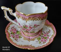 <Ordering> Made in France Old Paris Paris kiln cup and saucer and (Pink) - I ~ Rudoobuwanda ~ Zu