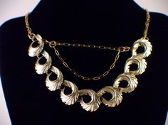 Gold colored repurposed necklace by berlyndesigns on Etsy, $20.00