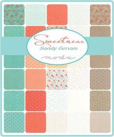 Moda Fat Quarter Bundle - Sweetness by Sandy Gervais
