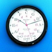 Buy Music Time Circle of Fifths Wall Clock Music Clock, Piano Music, Piano Lessons, Music Lessons, Circle Of Fifths, Music Classroom, Music Teachers, Future Classroom, Classroom Decor