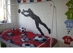 soccer wall mural for boys
