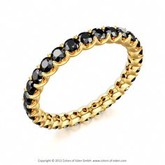 Black Diamond Eternity Ring Stardust #Gold