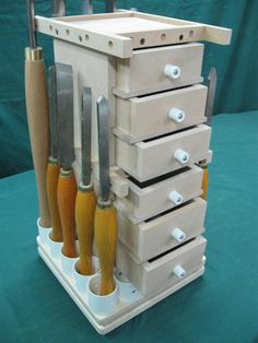 105- Lathe Tools Revolving Storage Tower