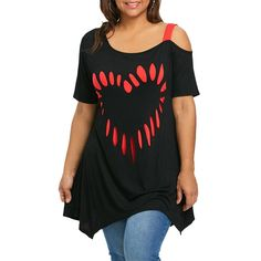 Short Sleeve Heart Print Tunic T-Shirt – Thick Chick Treasures