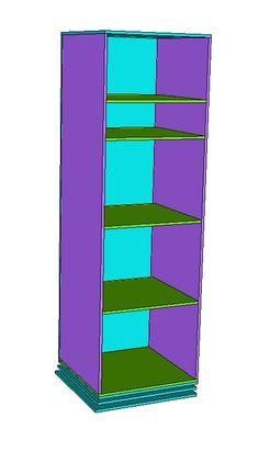 Rotating teen storage (This plan is based on the PB Teen Display-It Storage Mirror)