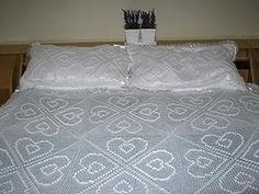 Colcha de crochê para cama de casal