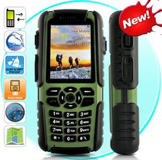 The Ultimate Spy/Survival Phone  Vigis -Rugged Outdoors Mobile Phone  Item# CVXM-M273 $249.00 (plus shipping & handing)  All-environment rugged mobile phone.  Waterproof, dustproof, shockproof  Built-in GPS  Built-in flashlight  Compass, air pressure, and temperature sensor  Walkie talkie feature  Earphones  Lanyard  2x Batteries  USB Cable  Walkie Talkie Antenna  User Manual  Power Adapter (100-240V 50Hz)  Rotary-turn Hand Charger  Car Charger