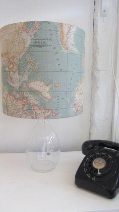 Map Fabric Lampshade £30.00