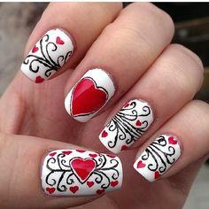 valentine by whoa_its_jessica #nail #nails #nailart