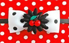 Cherry Cutie Daisy & Dots Wristband by PunkUpBettie on Etsy