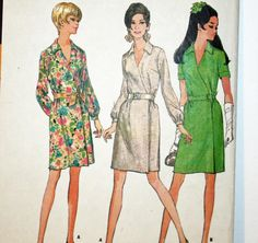 Vintage 1960s Sewing Pattern McCall's 9236 Wrap by Old2NewMemories