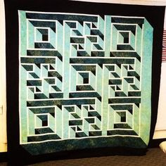 A beautiful quilt called Labyrinth Walk designed by Christopher Florence!!! Our retreater Jackie Pilon completed this during her stay! Absolutely stunning!!!!