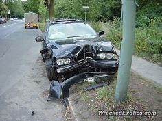 BMW 3-8 Series 5-Series crashed in Berlin, Germany