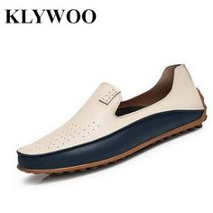 eeac321264ebd KLYWOO Men Loafers Plus Size 45 46 47 Fashion Spring Autumn Causal Shoes  Men PU Leather Men s Driving Shoes New Brand Men Shoes.