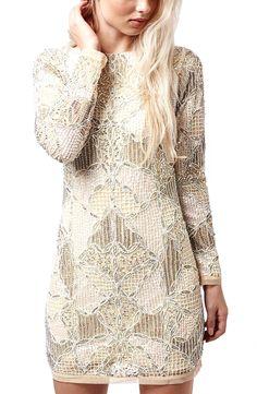 Topshop 'Gigi' Embellished Body-Con Dress