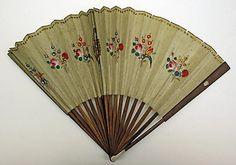 Fan, 1800 silk, Met museum