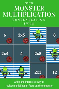 Perfect and fun way to review multiplication facts. Use for a small or whole group activity on smartboard or computers. Great way to integrate technology.