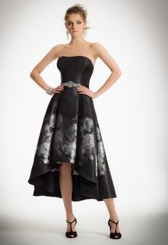 816ed89869706 Hi-Low Metallic Dress with Floral Border from Camille La Vie and Group USA  Resmi