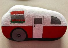 Camper painted rock