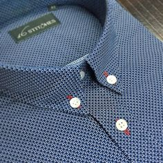 Smaller details like the red buttonholes add immense character to your shirt!  Customise your own shirt now at 16stitches.com  #menswear #mensstyle #mensfashion #style #fashion #trend #trendy #bespoke #custom #shirts #tailormade #madetomeasure #prints #classy #classic #dapper #dappermen #classymen #luxury #lookoftheday #monday #inspiration #formal #formals #instalike #instagood