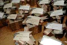 Combination placecards and guest favors.