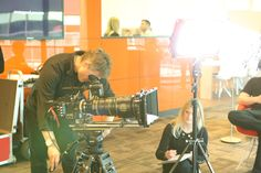 Shooting a promo for PwC. 45-250mm lens.