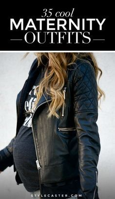 35 cool outfits to rock while expecting. #maternity #fashion #cool