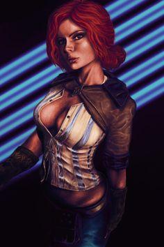 Triss Merigold by Dmitriy Saraev on ArtStation. Witcher Triss, Witcher Art, Ciri, The Witcher 3, Triss Cosplay, Triss Merigold, Ninja Art, Gypsy Witch, Fantasy Warrior