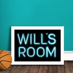 Kids neon print blue  Like this for Luis's Room