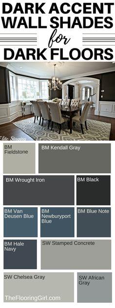 dark accent paint shades for dark hardwood floors