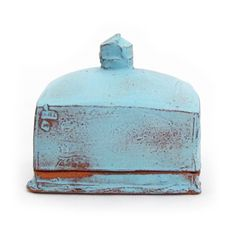 Turquoise Butter Dish by Sunshine Cobb $125