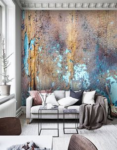 Wallpaper, Vinyl,Old painted Wood Texture,Large Photo Wall Mural,Self Adhesive Deco Design, Wall Design, House Design, Textures Murales, Painted Wood Texture, Living Room Decor, Bedroom Decor, Tableau Design, Wall Finishes
