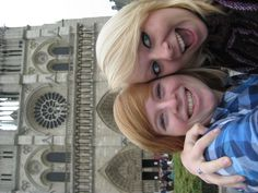Notre Dame- Paris, France (me and my sister)