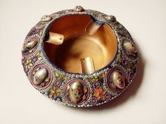 #stoppedsmoking ages ago - but this one is nice!Ashtray Intricate Hand Decorated  Copper by FingerLakesFinds,