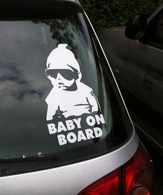 New Baby On Board Carlos Hangover Funny Vinyl Car Window Laptop - Vinyl car window decals
