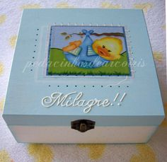 Baby wooden box, for baby memories