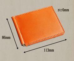 【楽天市場】マネークリップ 革 / カードも沢山入る 財布 メンズ レディース:手作り革雑貨 ブラン・クチュール