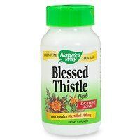 Nature's Way Blessed Thistle, Capsules 100 caps by Nature's Way. $6.97. Blessed Thistle has traditionally been used in European tonics for digestion and feminine health.  Dosage Take 2 capsules three times daily, preferably with food.         Dosage Form           Precautions   Not for use during pregnancy.
