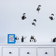 Banksy Rats Wall Art Decal Pack - wall stickers
