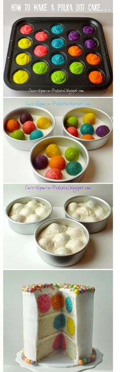 """So Evelyn wants a Bubble Guppies b-day party, and I will be doing this cake, but with blue cake balls inside as """"bubbles"""".  So excited to try it!"""