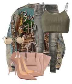 """Untitled #3765"" by xirix ❤ liked on Polyvore featuring Balmain, Christian Louboutin, Alexander Wang and Christian Dior"