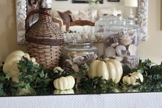 shells, basket, white gourds = coastal autumn