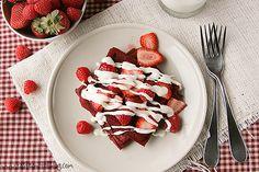 Red velvet waffles.