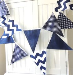 Bunting Banner Pennant Fabric Flags Baby by vintagegreenlimited