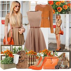 Love the mixture of these colors and LOVE the dress and purse!
