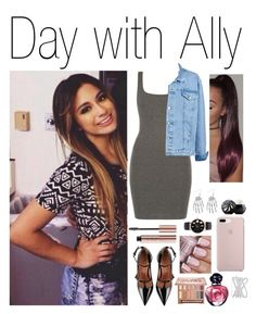 A fashion look from November 2016 featuring scoop neck dress, jean jacket and ankle strap shoes. Browse and shop related looks. Ally Brooke, Effy Jewelry, Urban Decay, Eos, Valentino, Shoe Bag, Polyvore, Stuff To Buy, Shopping