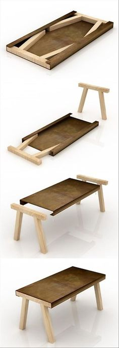 This table is easily stored and brought out when guests visit. Perfect for a tiny home. Would be nice to have a box so it wouldnt get scratched. . I found website about #woodworking here: http://ewoodworkingprojects.com/ .