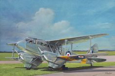Duxford Rapide painting by Richard Wheatland