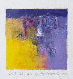 Oct. 21 2016 Original Abstract Oil Painting by hiroshimatsumoto