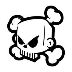 DC Shoes Ken Block Skull logo Decal